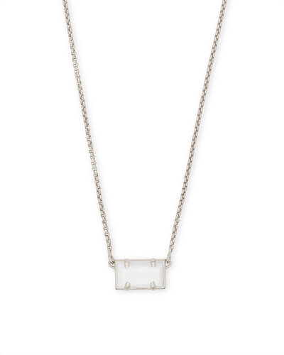 Pattie Silver Pendant Necklace In White Pearl
