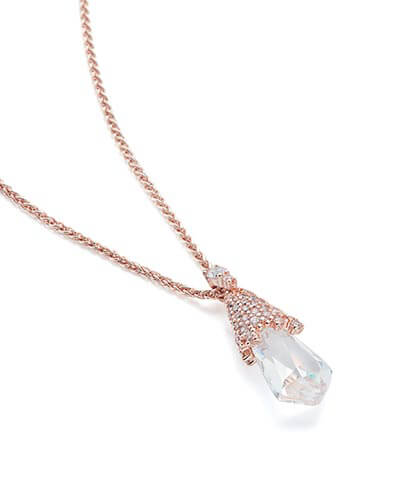 Colby Pendant Necklace in Rose Gold