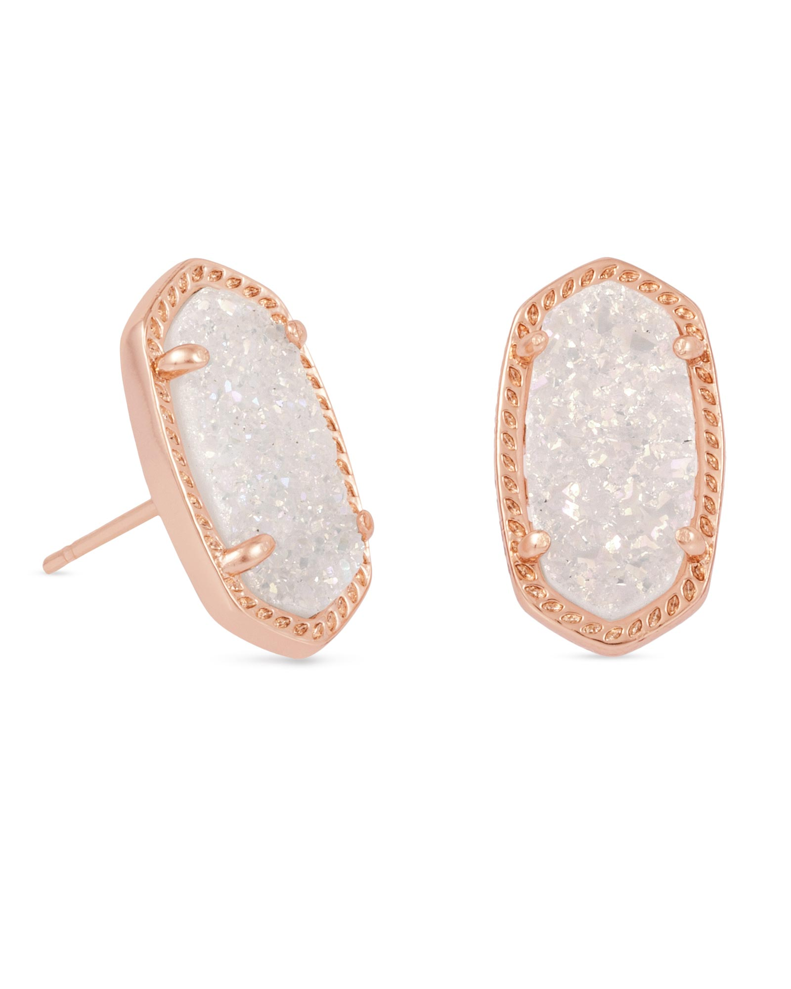 Ellie Drusy Stud Earrings in Rose Gold Kendra Scott