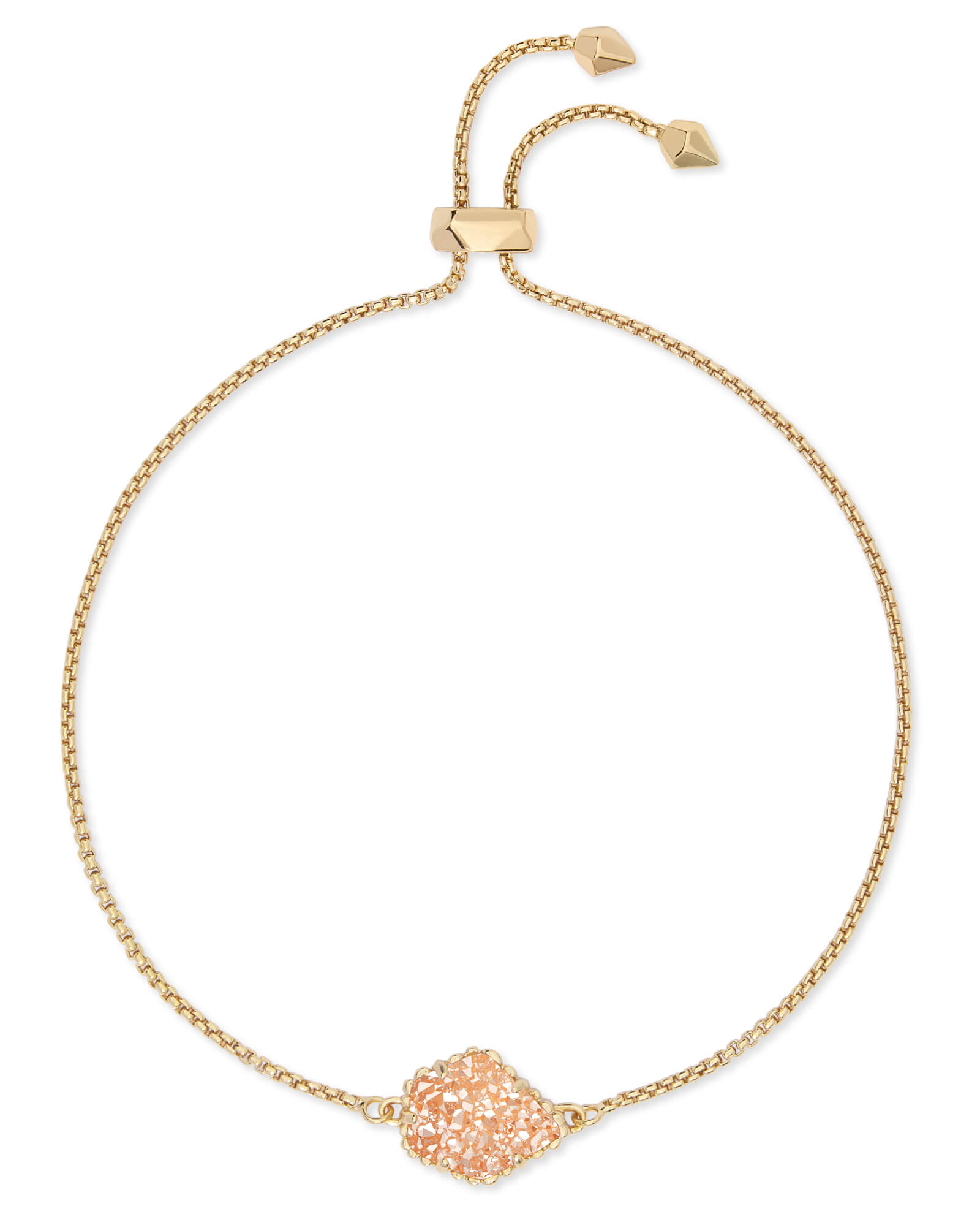 Theo Gold Adjustable Chain Bracelet in Sand Drusy