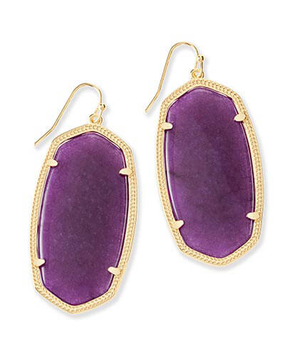Danielle Earrings in Purple Jade