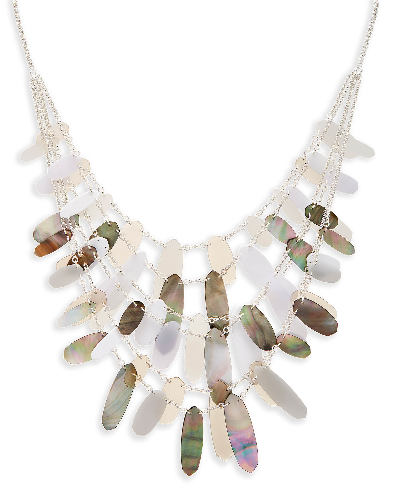 Patricia Statement Necklace in Neutral Mix