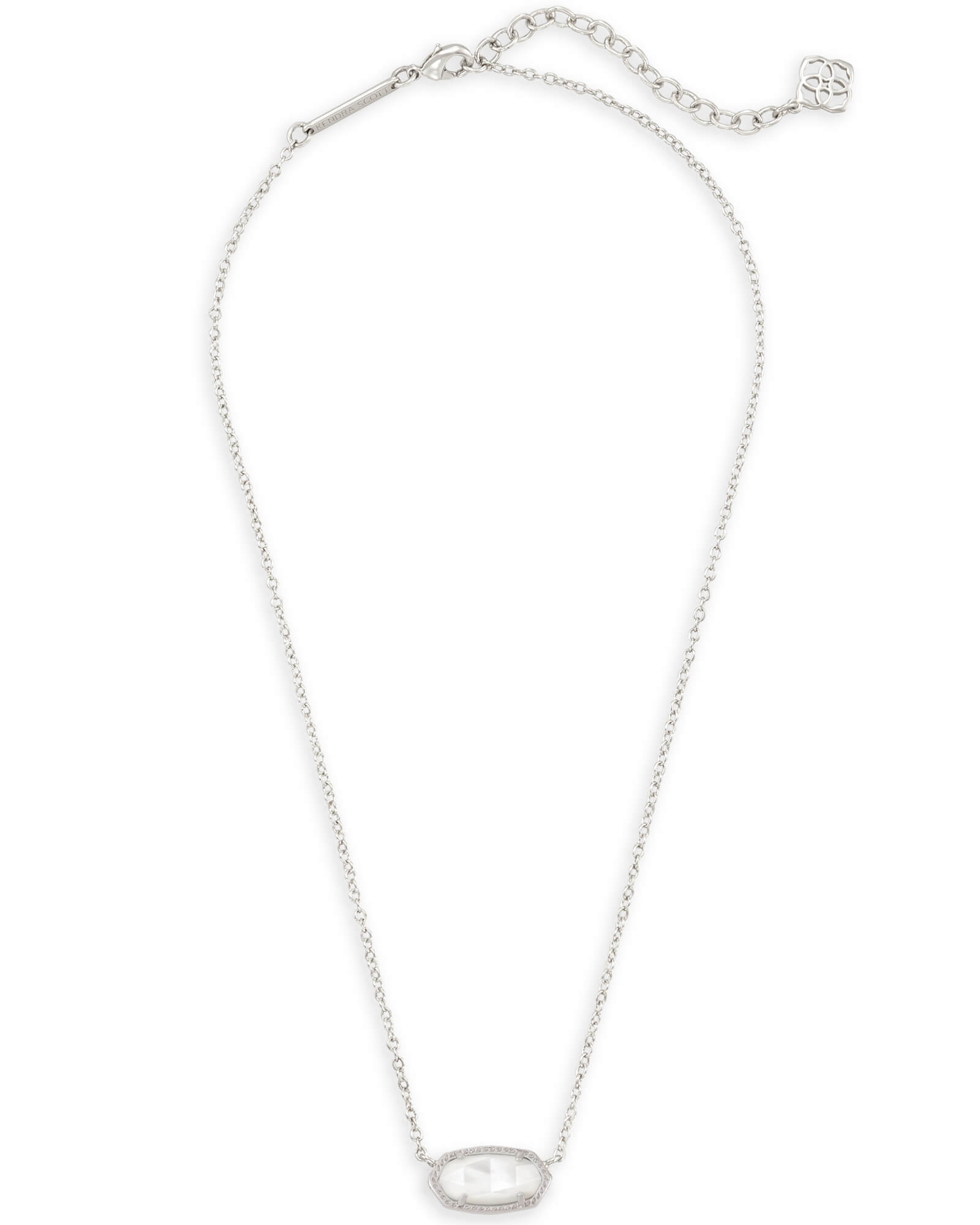 Elisa Silver Pendant Necklace in Ivory Pearl