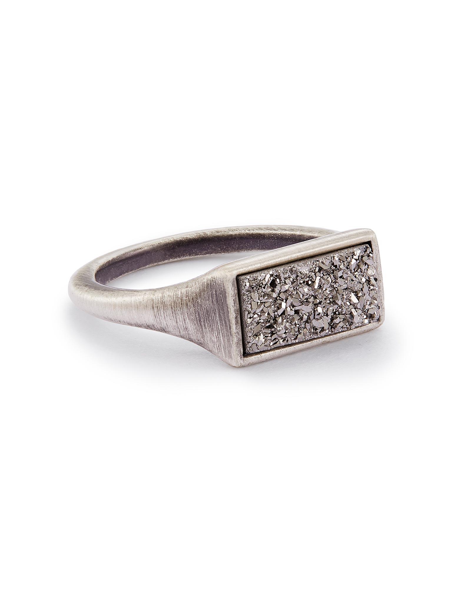 Glenna Cocktail Ring In Platinum Drusy   6 by Kendra Scott