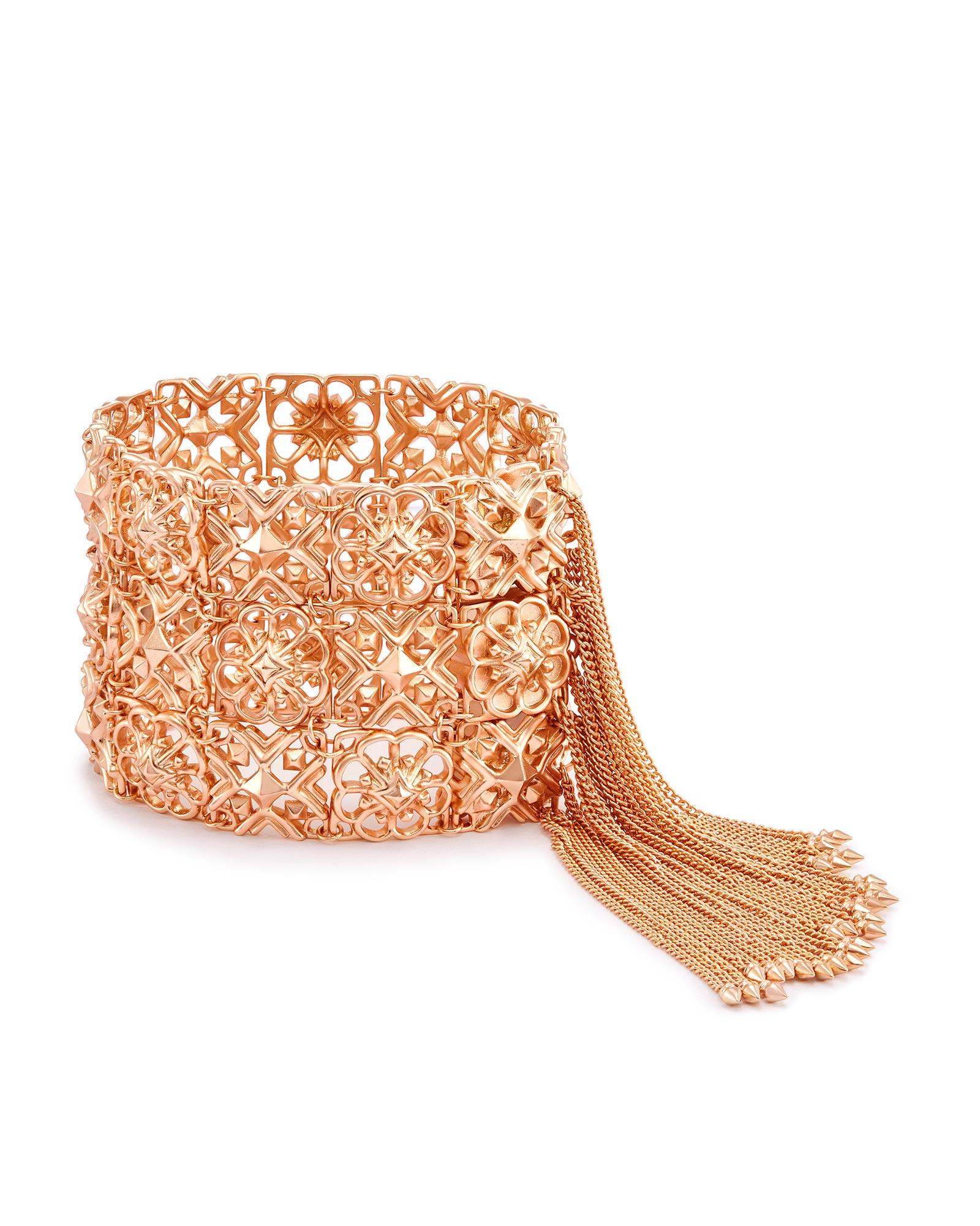 Iris Statement Bracelet In Rose Gold