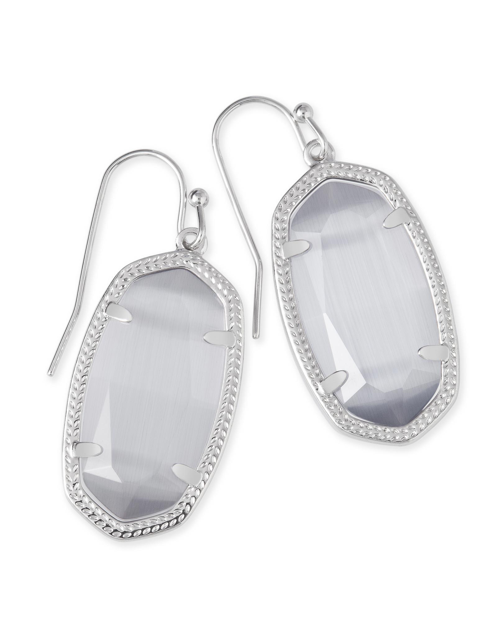 Dani Silver Earrings In Slate