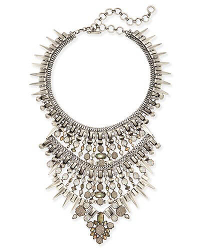 Serayah Statement Necklace in Antique Silver