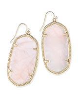 Danielle Earrings in Rose Quartz