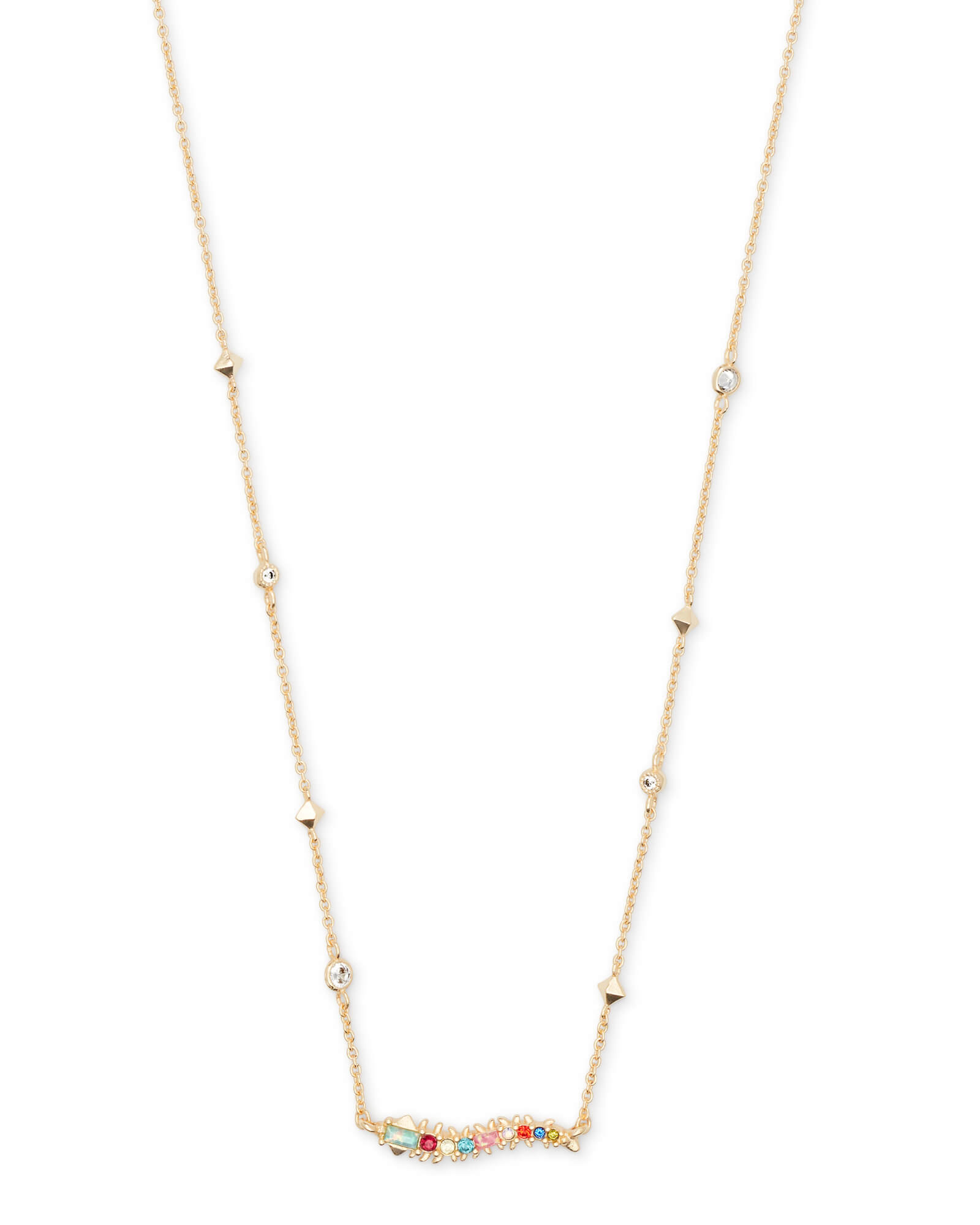 Kim Gold Pendant Necklace In Multi Mix by Kendra Scott