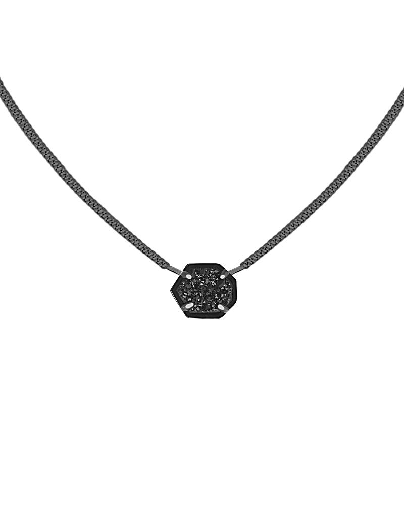 Mabel Pendant Necklace in Gunmetal