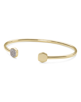 Davis 18k Gold Vermeil Cuff Bracelet in White Diamond