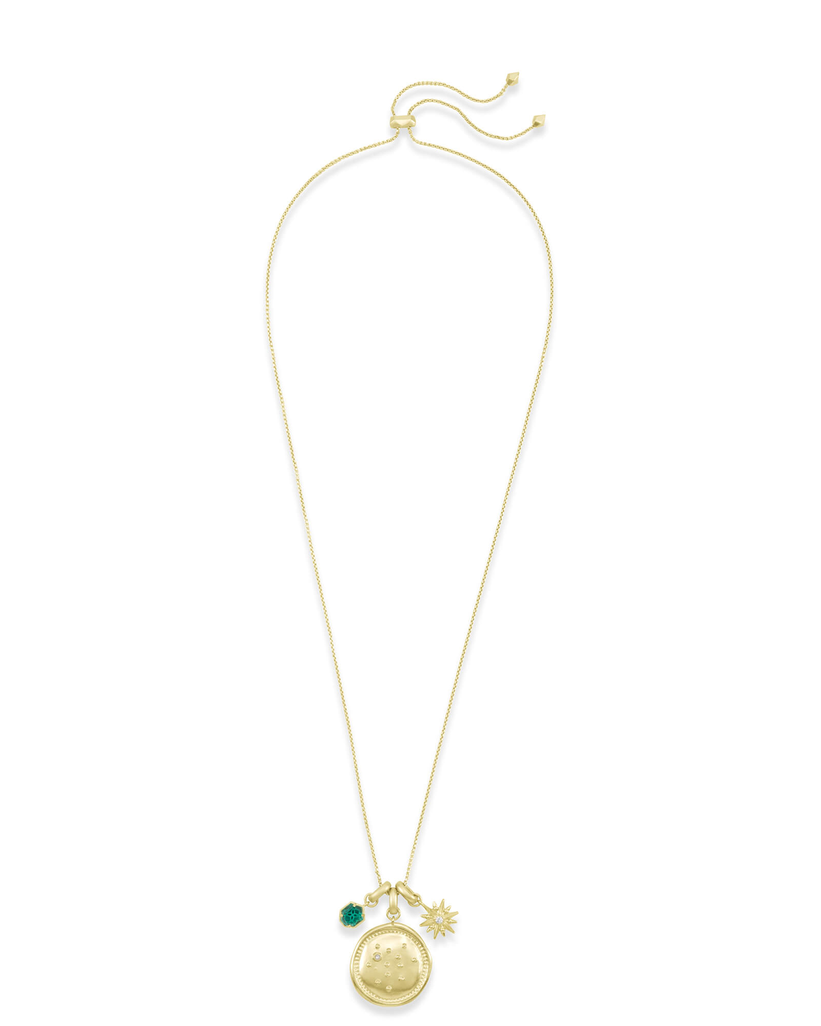 December Sagittarius Charm Necklace Set in Gold