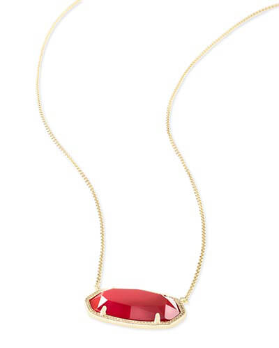 Delaney Pendant Necklace in Bright Red