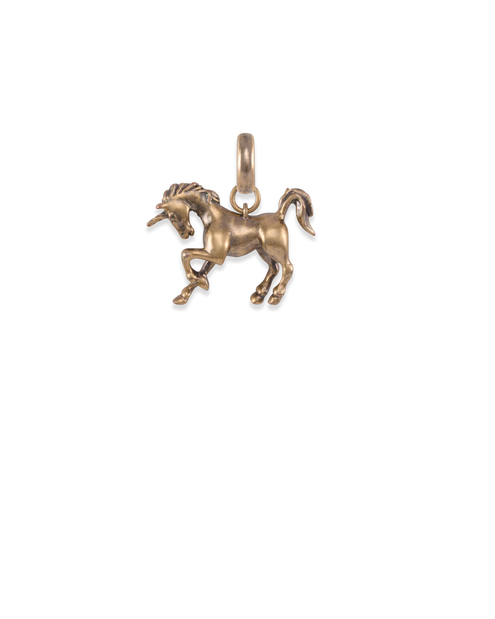 Unicorn Charm in Vintage Gold