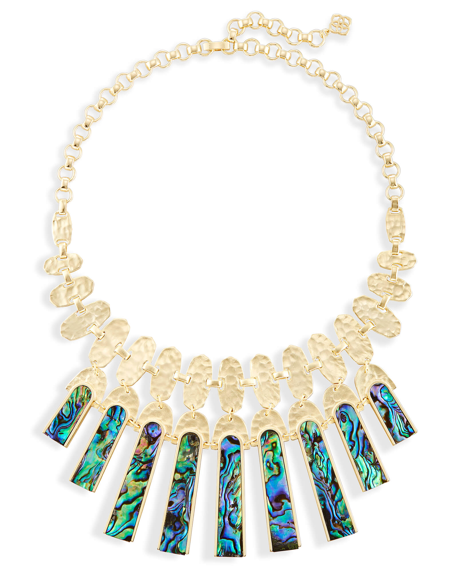 Mimi Statement Necklace in Abalone Shell