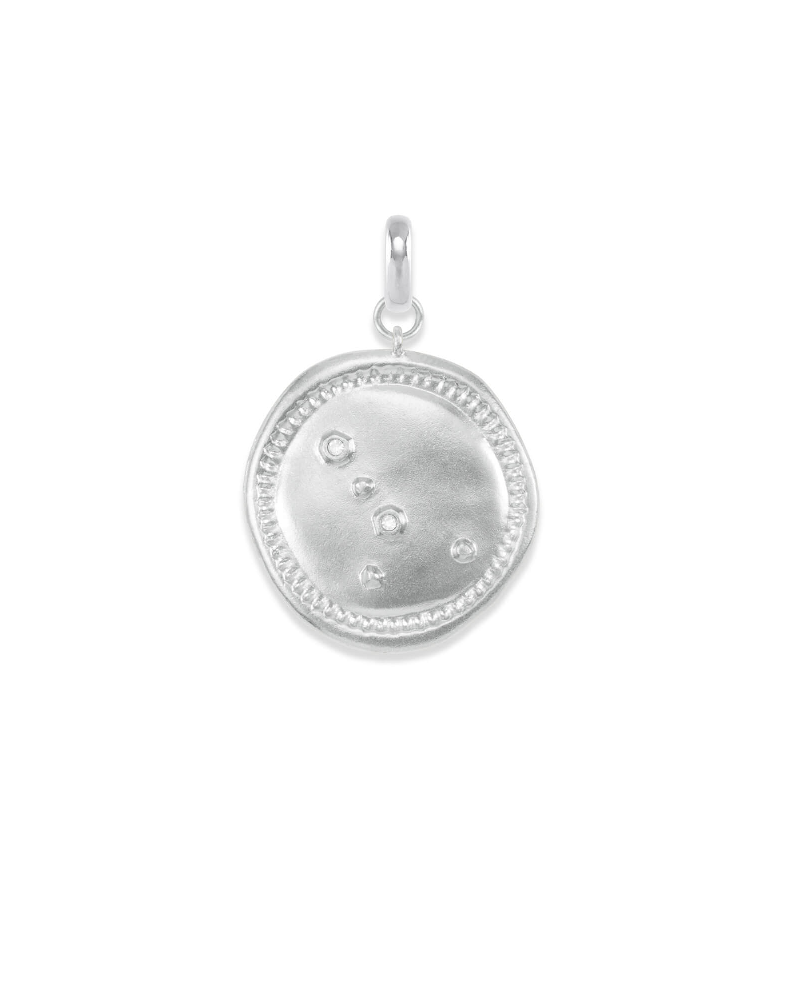 Cancer Coin Charm in Silver