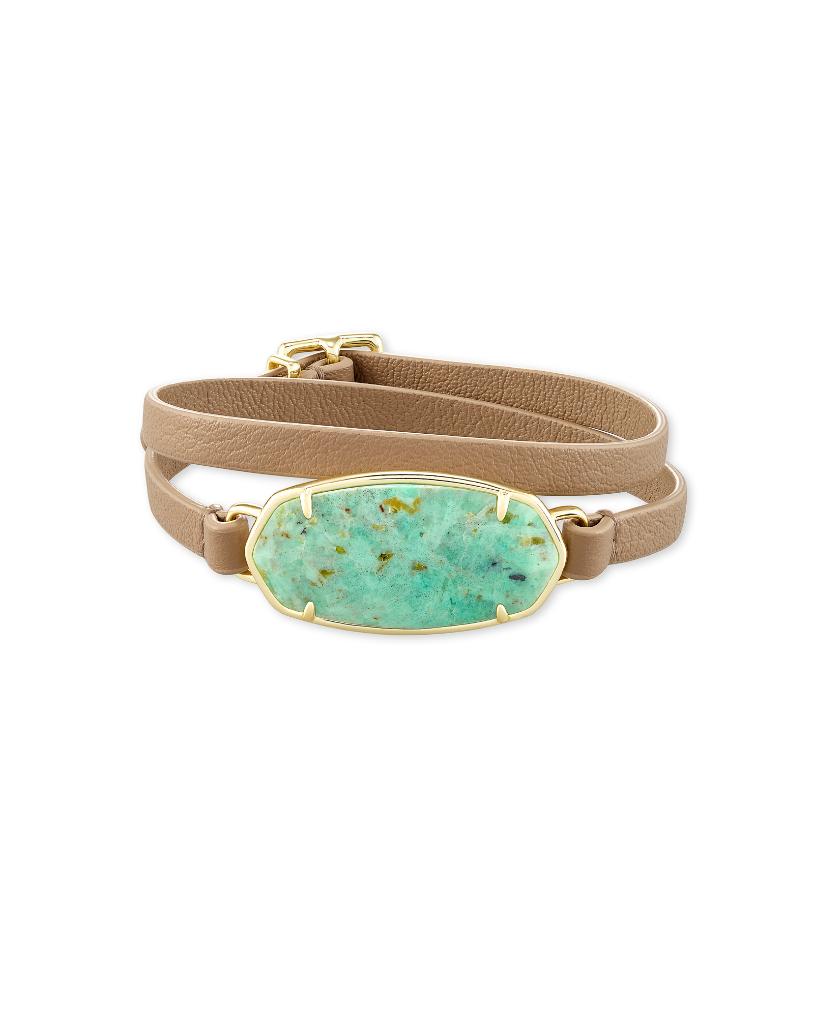 Elle Sand Wrap Bracelet in Sea Green