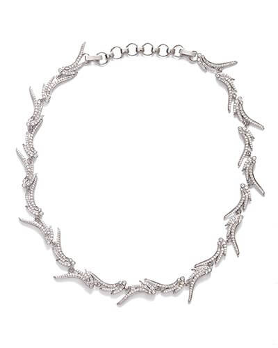 Cleo Collar Necklace in Silver