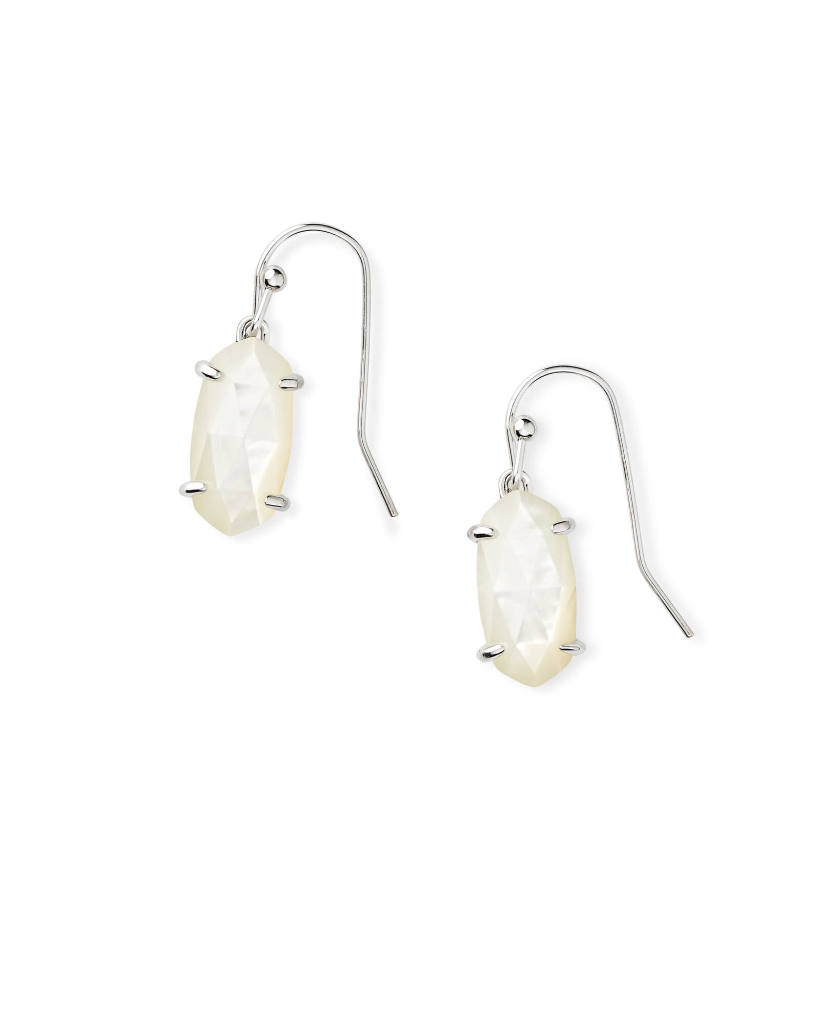 Lemmi Silver Drop Earrings in Ivory Pearl
