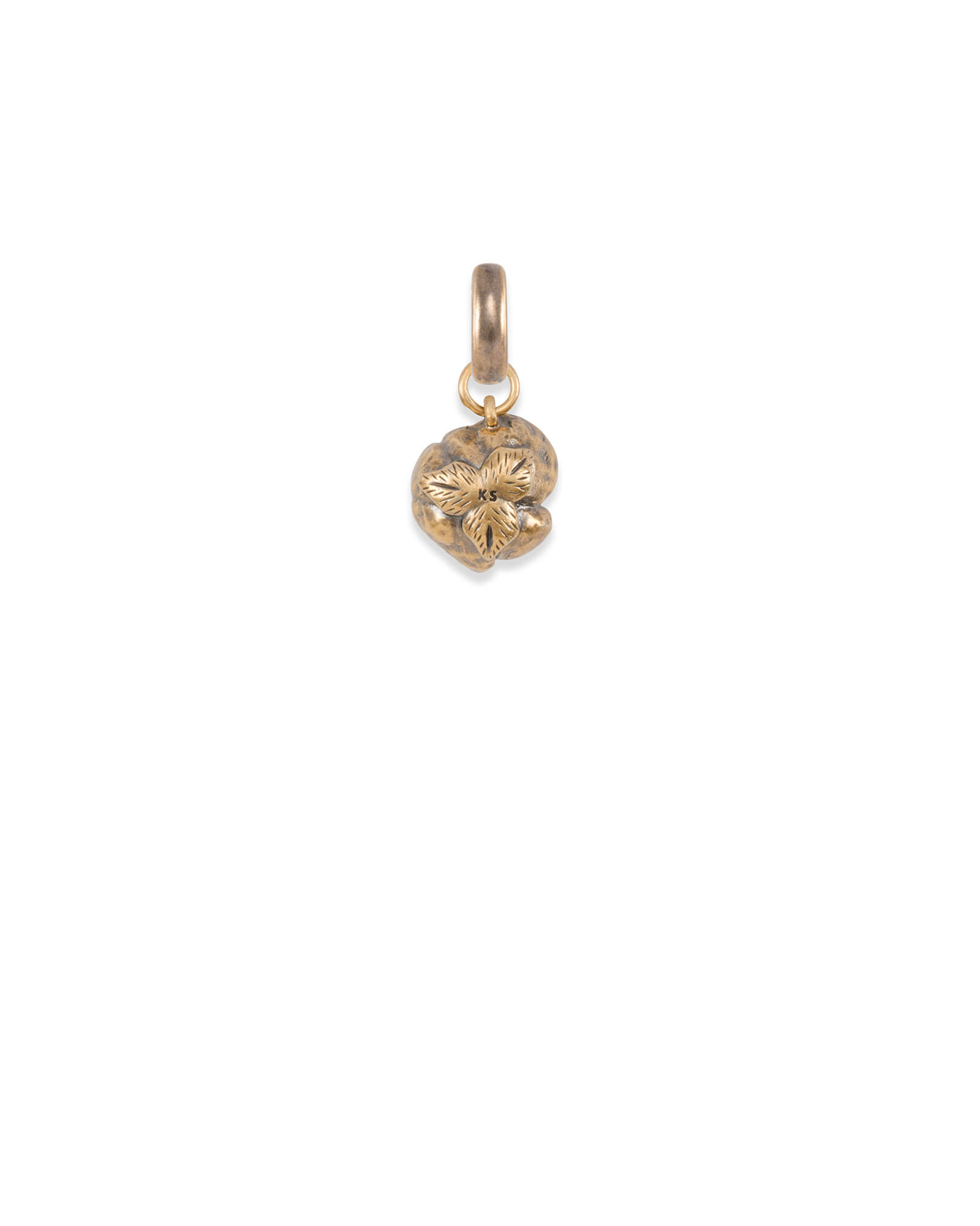 Women Empowerment Charm in Vintage Gold