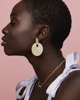 Didi Statement Earrings in Gold