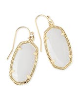 Dani Gold Earrings in White Pearl