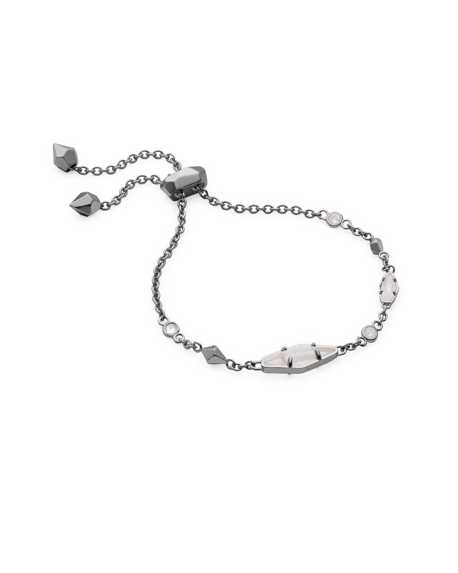 c6978fe0e1f900 Shoptagr | Deb Adjustable Chain Bracelet In Hematite by Kendra Scott