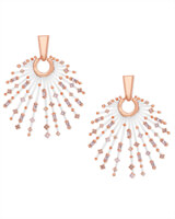 Fabia Rose Gold Statement Earrings in Blush Mix