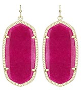 Danielle Earrings in Fuchsia Jade