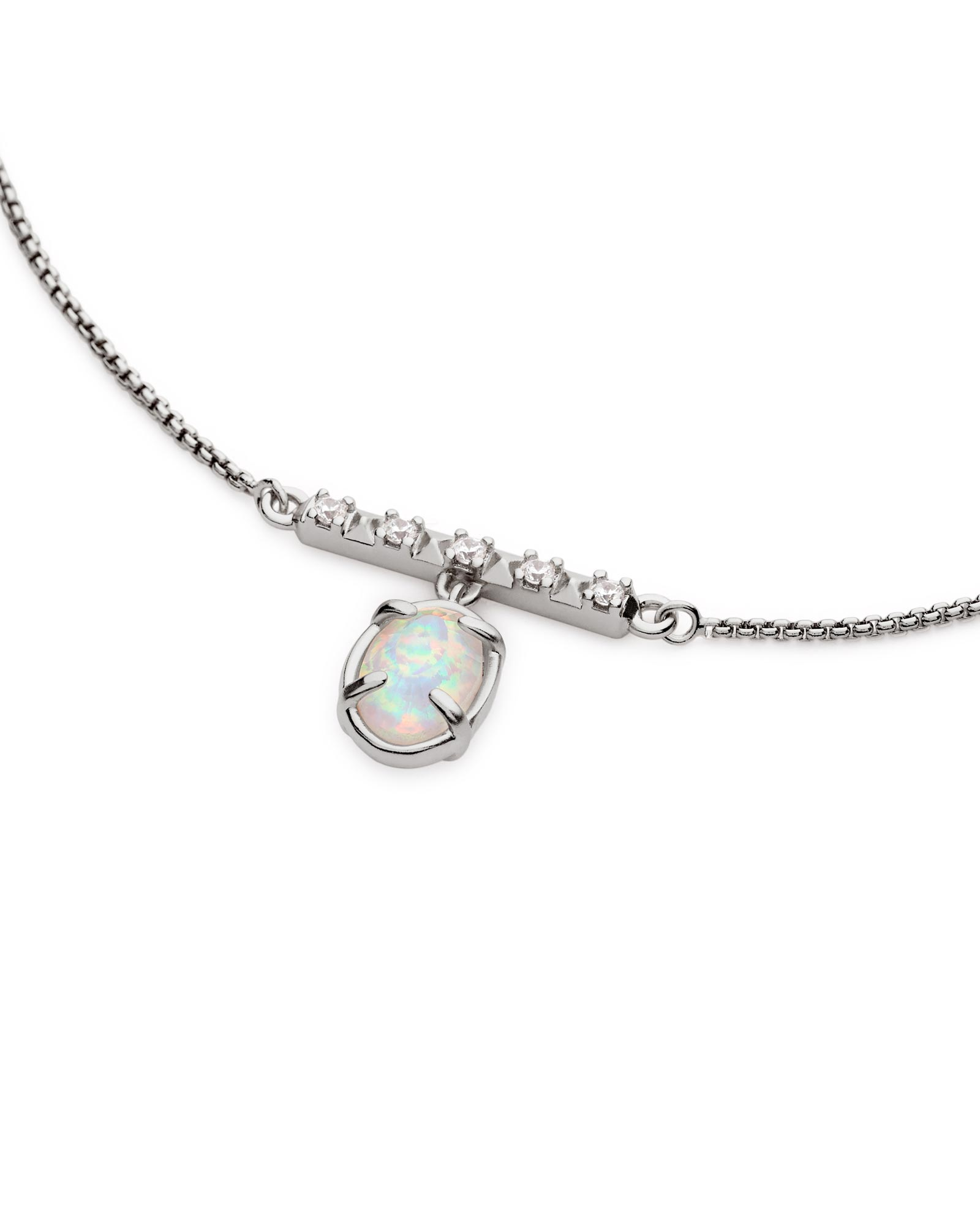 Fischer Pendant Necklace in Antique Silver