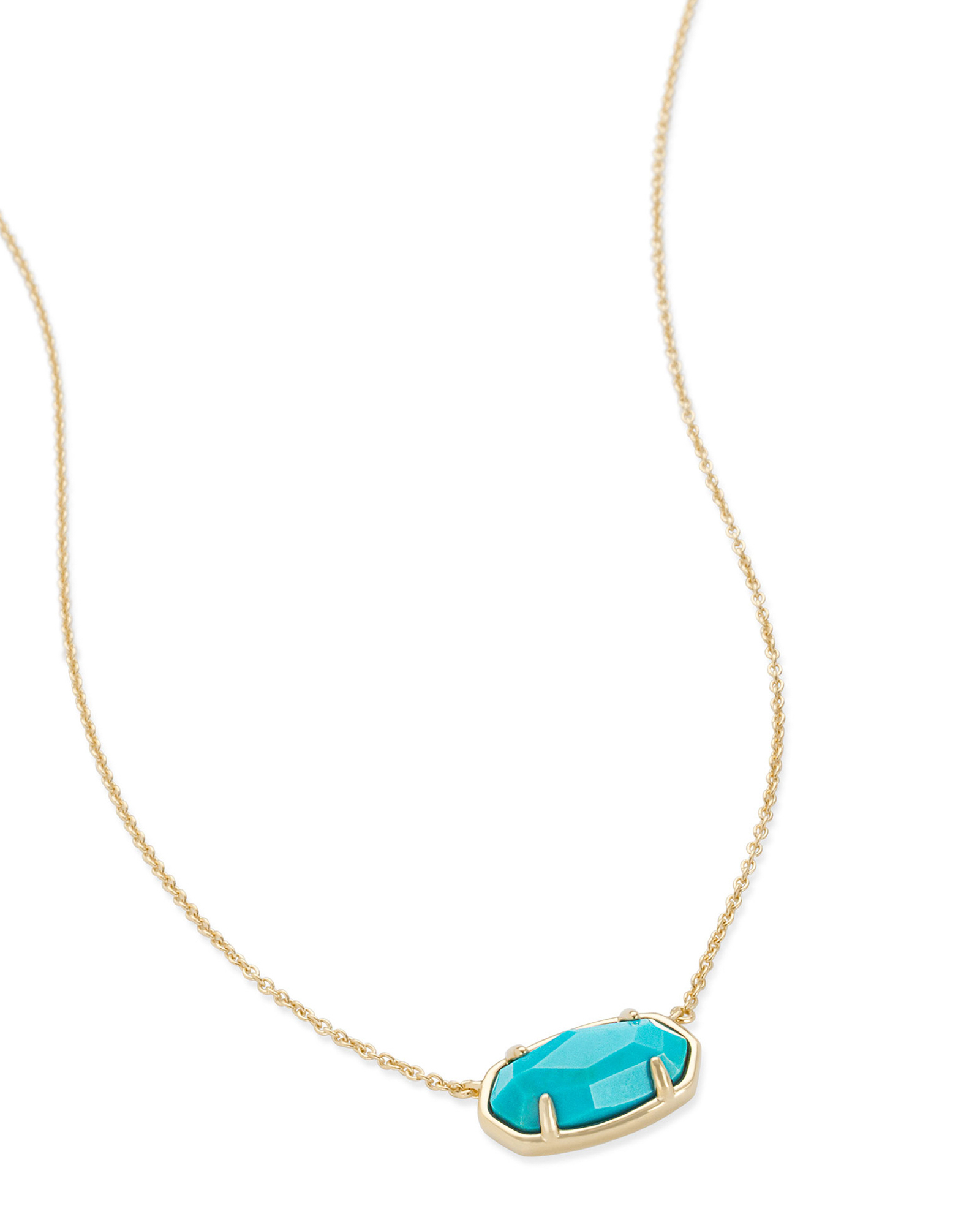 Elisa 18k Gold Vermeil Pendant Necklace in Genuine Turquoise