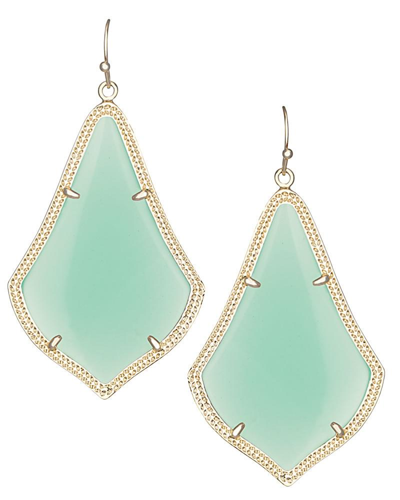 Alexandra Earrings in Chalcedony