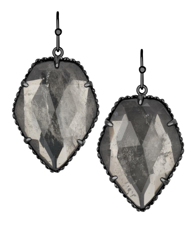 i borgo earrings eddie gunmetal tradesy