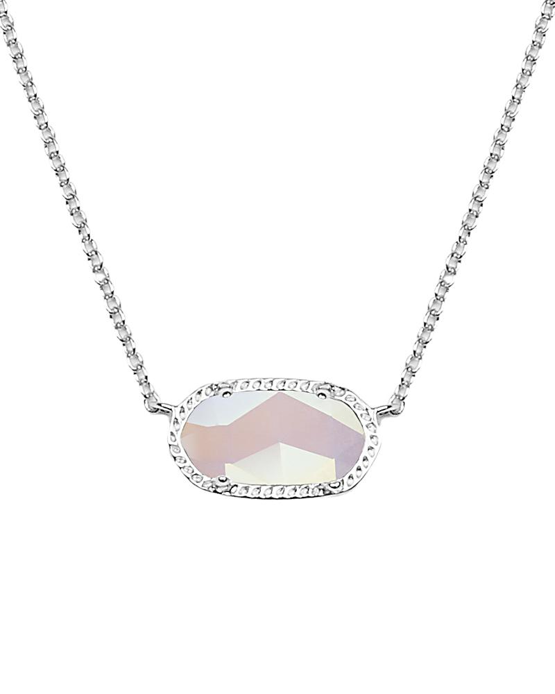 Elisa Silver Pendant Necklace in Iridescent Slate