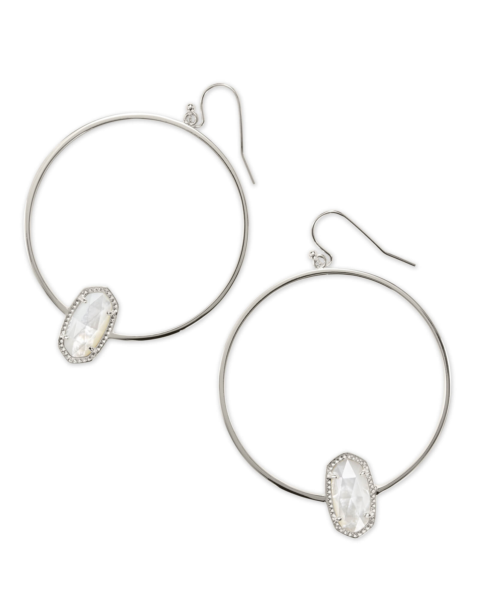 sterling ag silver view bling hoop high cubic earrings jewelry az zirconia all huggie flat polished tone