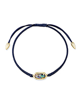 Grayson Navy Friendship Bracelet in Nude Abalone