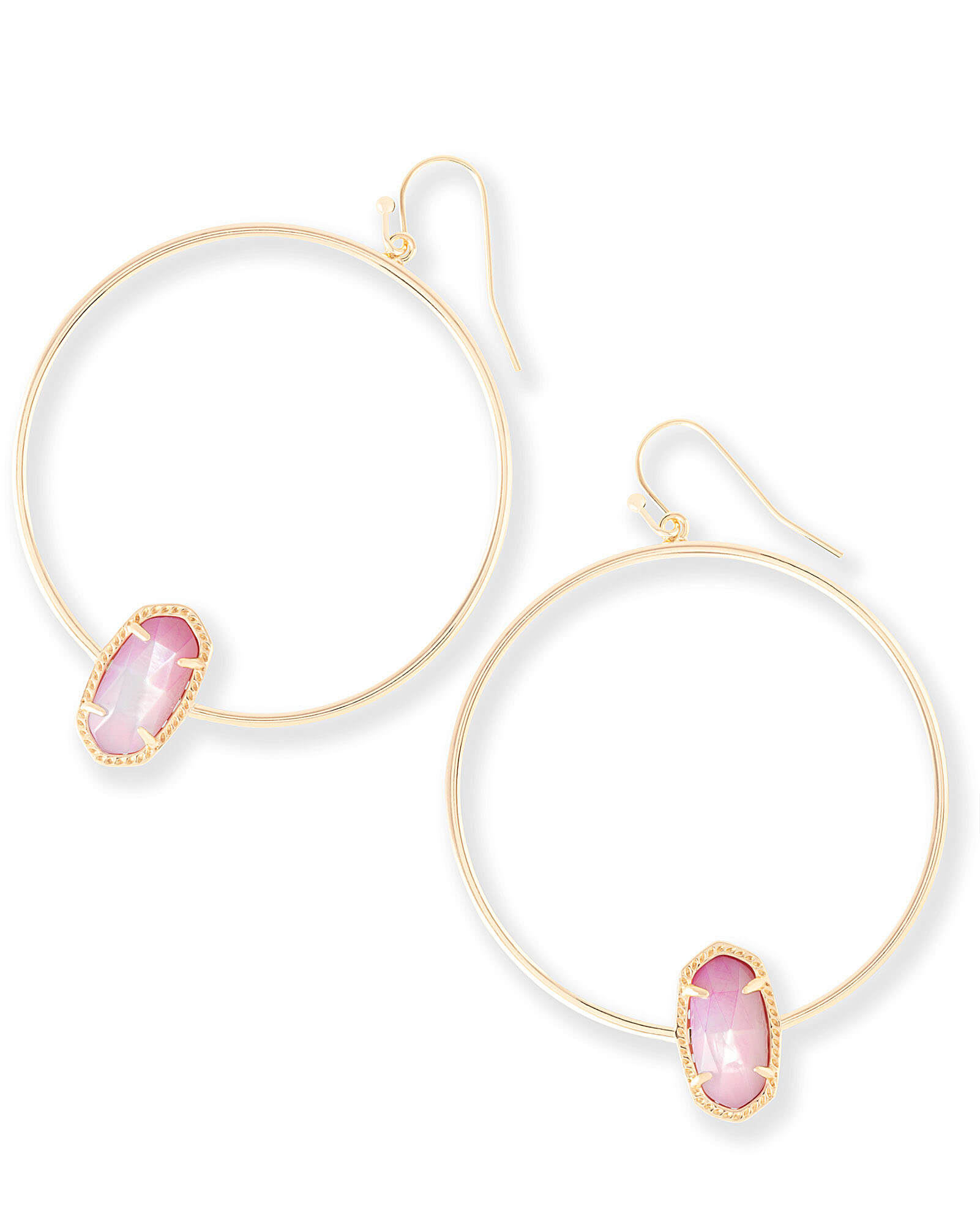 Elora Hoop Earrings in Blush Pearl