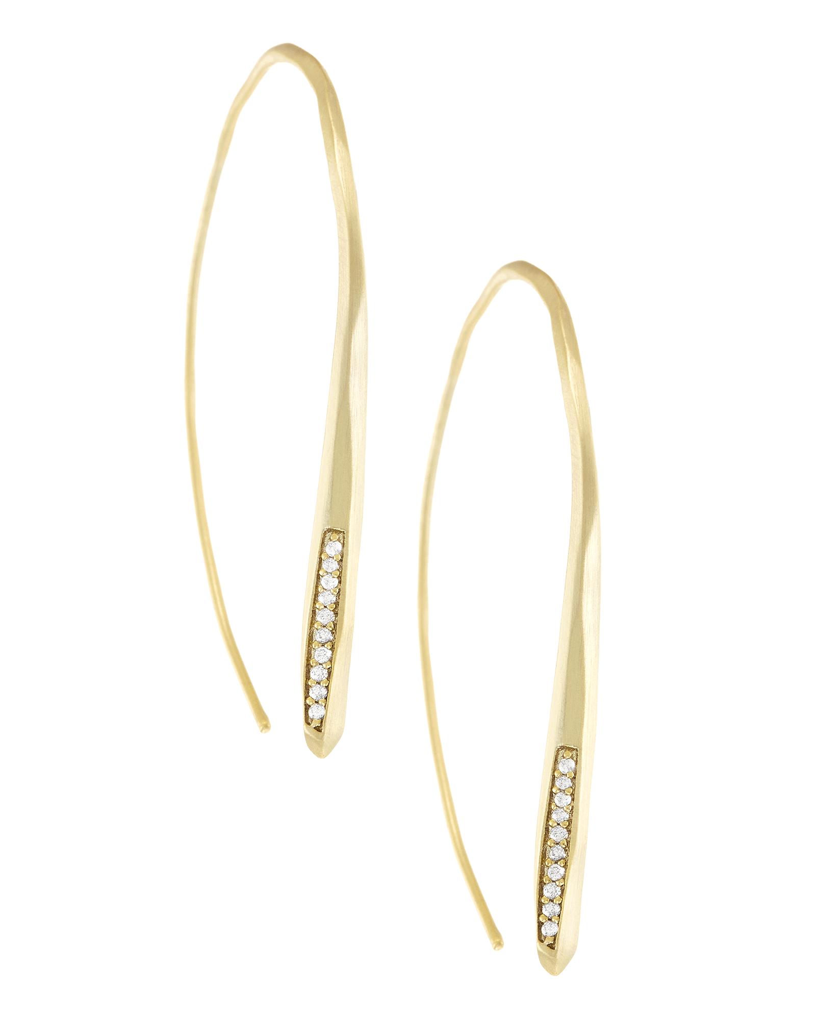 Julian Threader Earrings In Gold