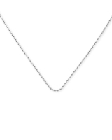 18 Inch Thin Chain Necklace in Sterling Silver