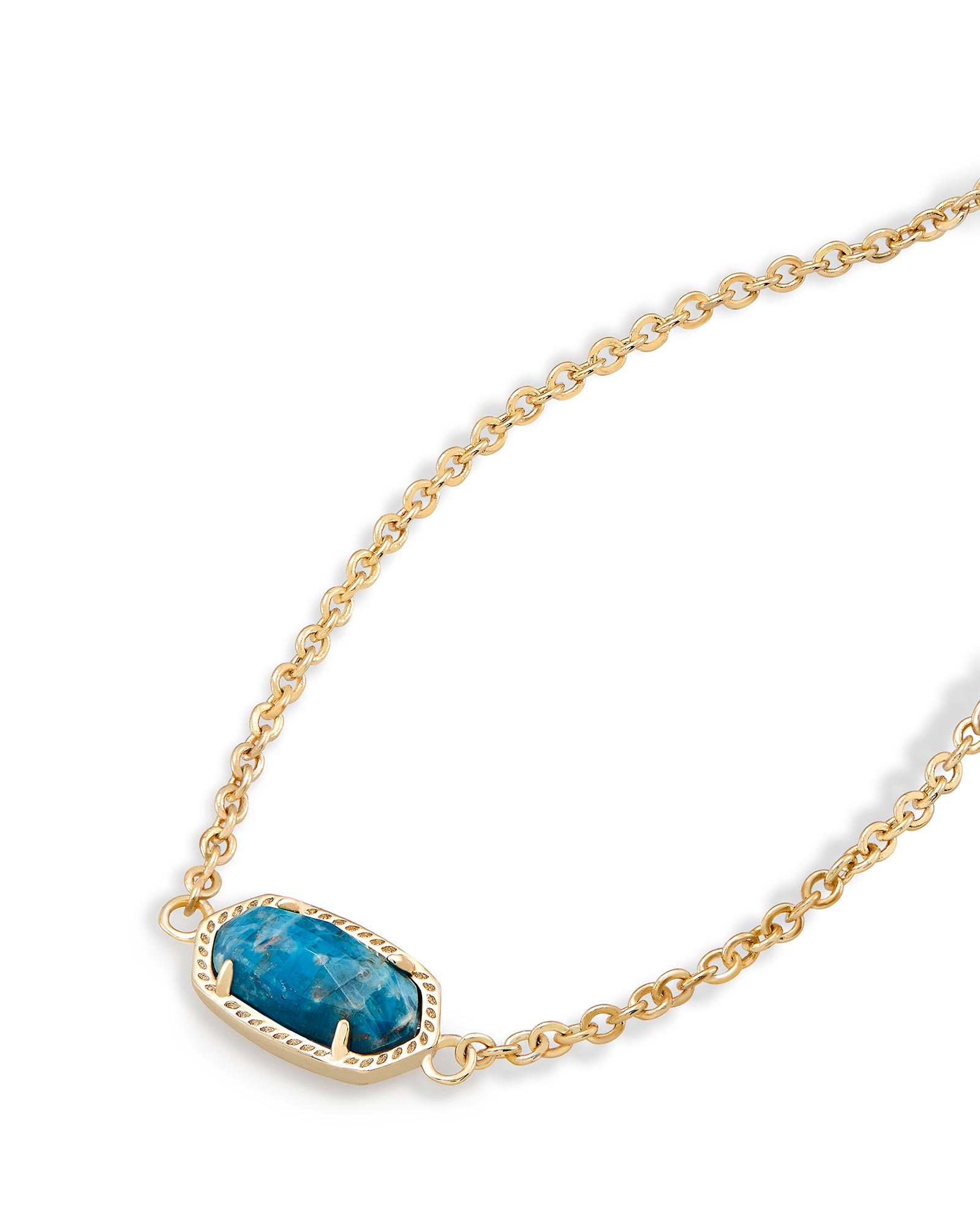 Elaina Adjustable Chain Bracelet in Aqua Apatite