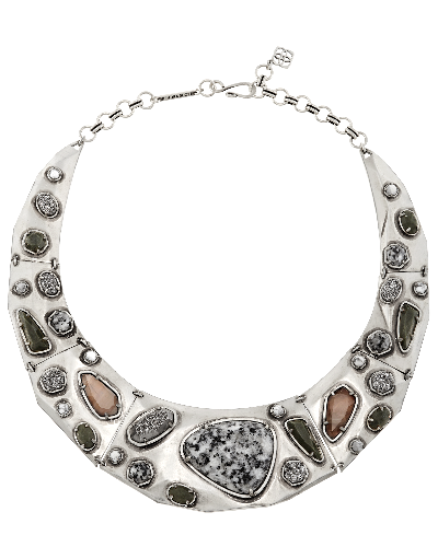 Mira Necklace in Granite Mosaic