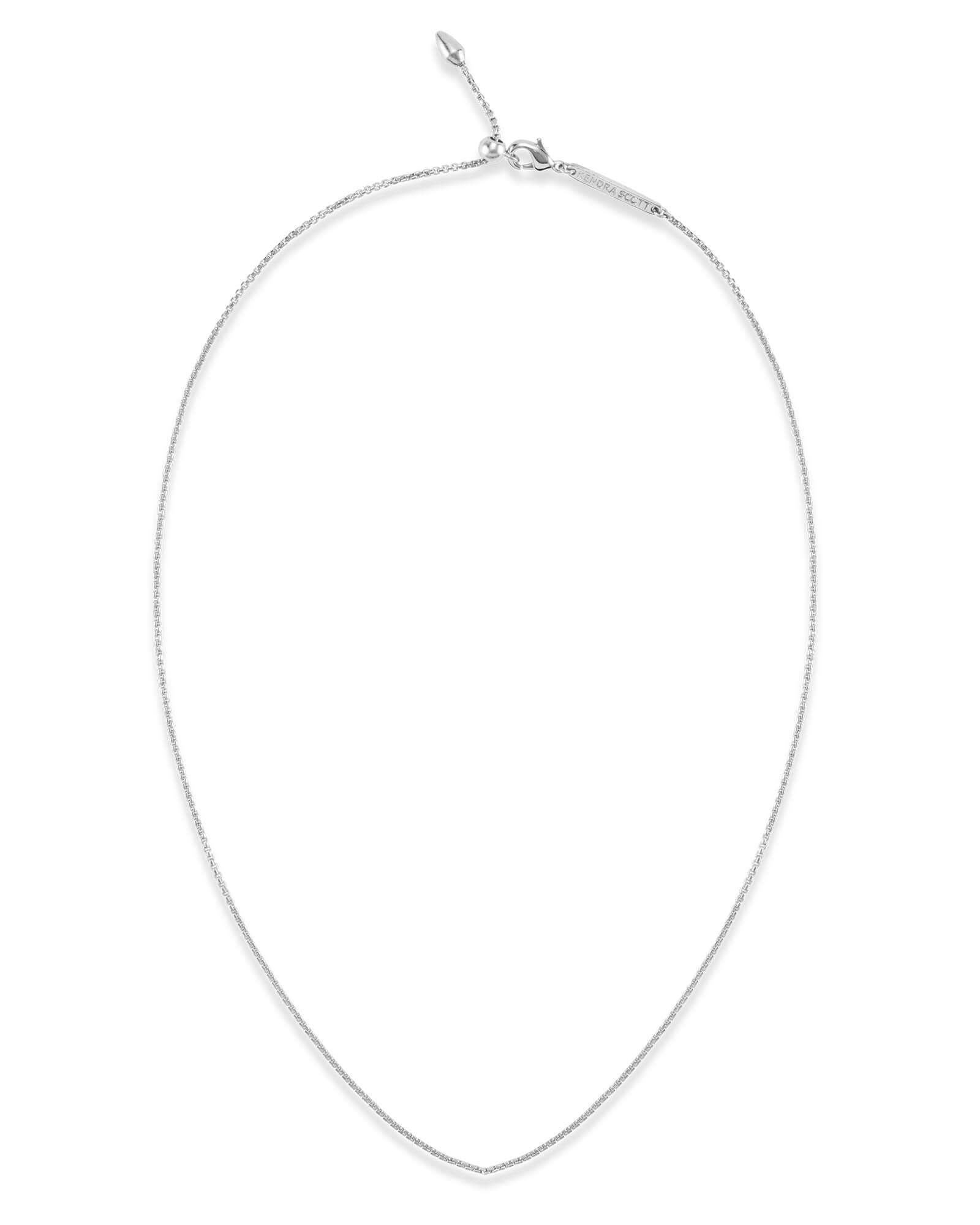 Petite Thin Adjustable Chain Necklace in Silver