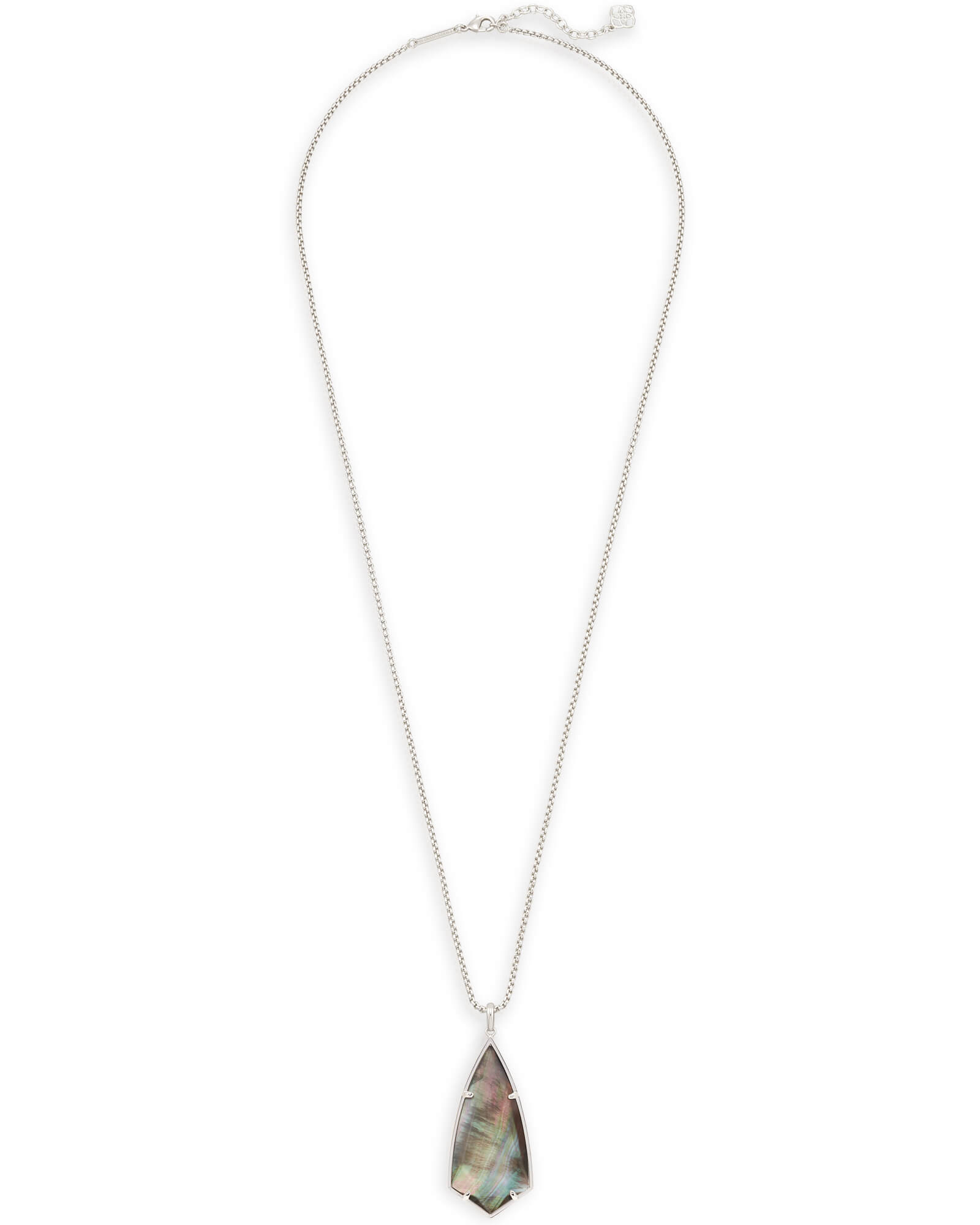 Carole Long Pendant Necklace in Black Pearl