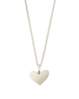 Ari Heart Charm Necklace In Sterling Silver