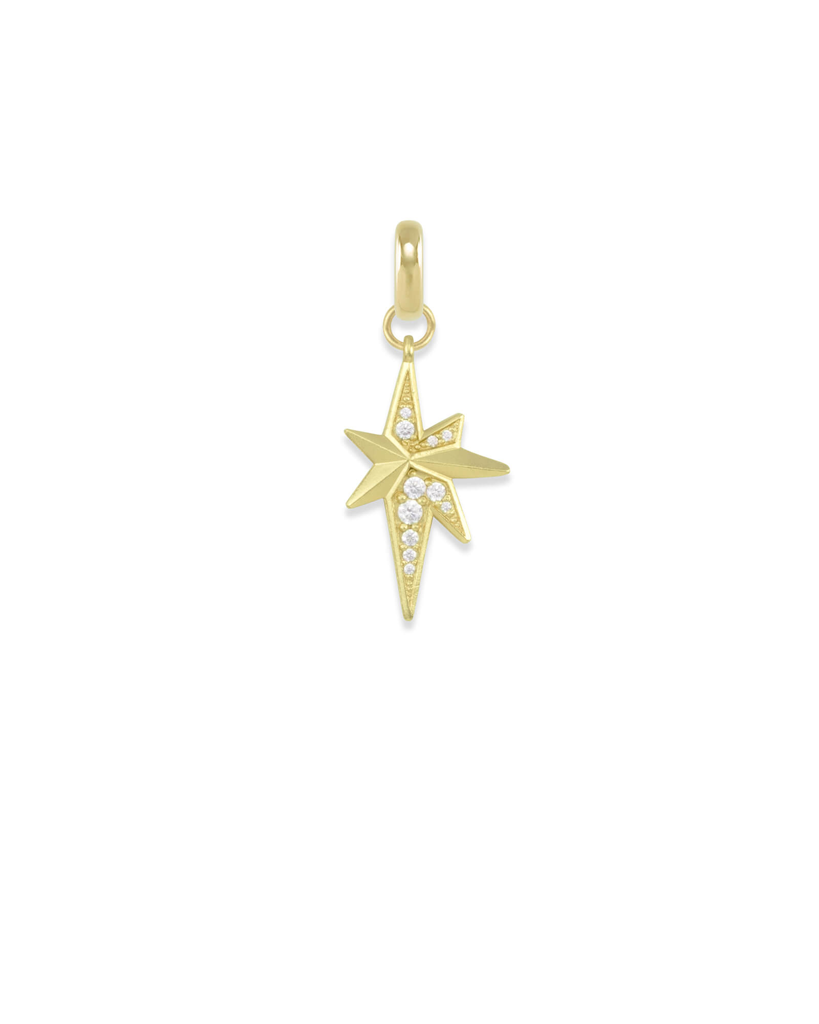North Star Charm in Gold