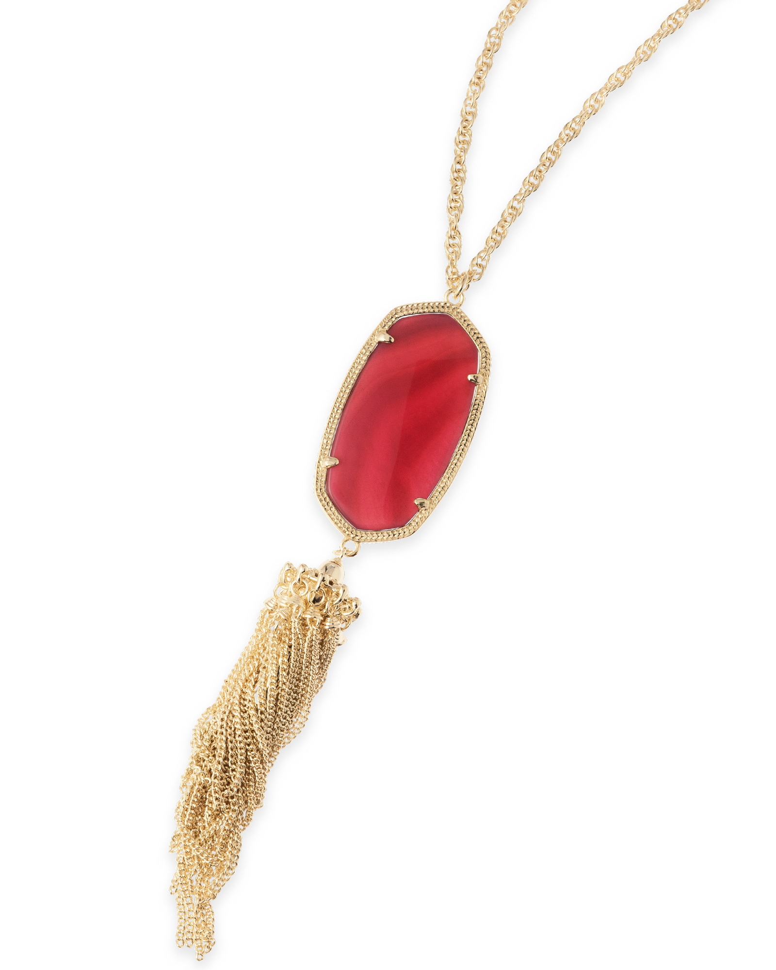 Rayne Long Necklace in Burgundy Illusion