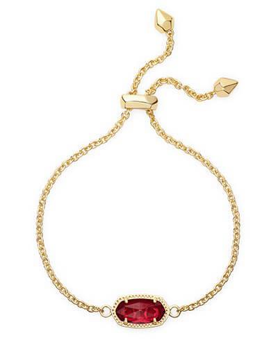 Kendra Scott - Elaina Adjustable Chain Bracelet in Berry Photo