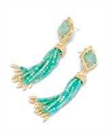 Misha Statement Earrings in Amazonite