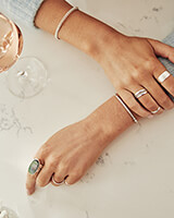 Kit Cocktail Ring in Bright Silver