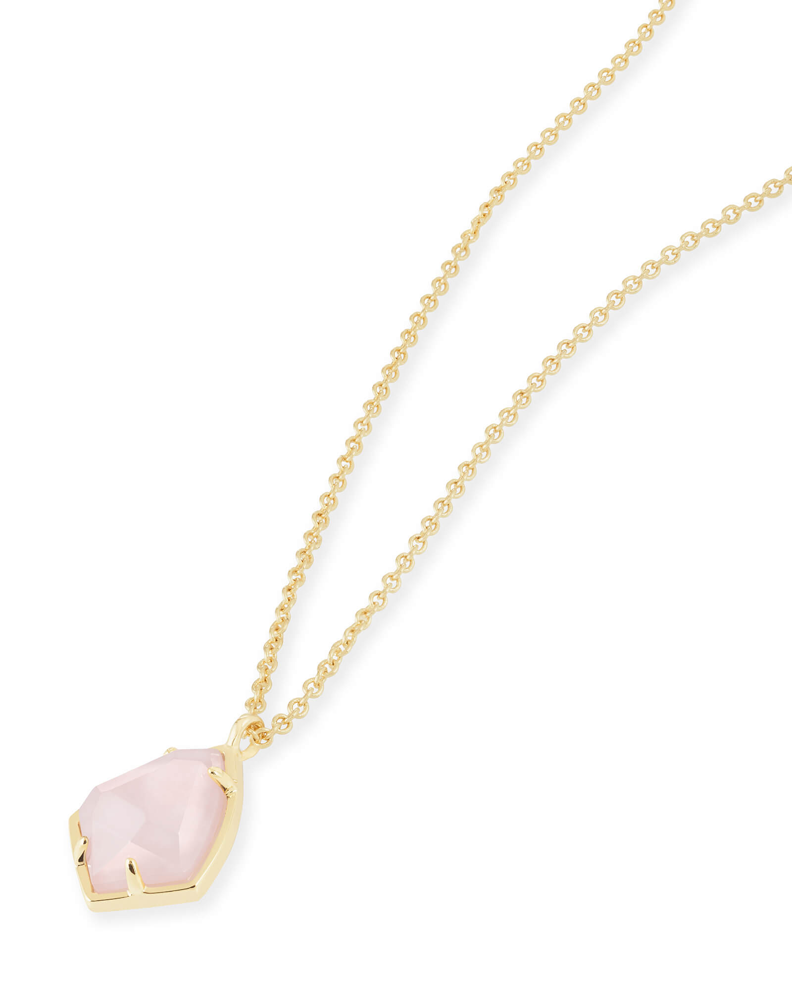 Rosa Maria pink quartz and diamond pendant necklace - Metallic ez1JH9OM